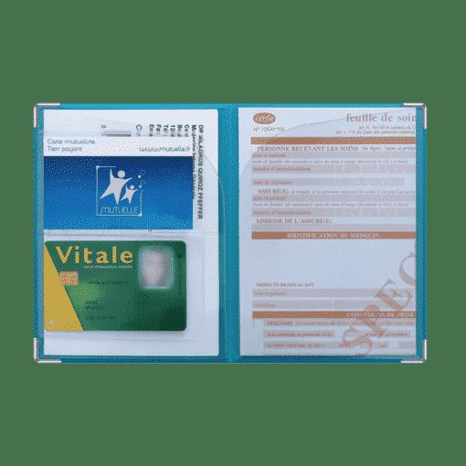 dossier santé ordonnances carte vitale carte mutuelle my color pop petite maroquinerie made in france fabrication francaise